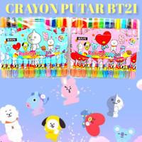 Crayon Putar BTS / BT21 Panjang 17cm Tidak Mudah Patah