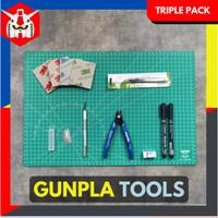 Tools Set Gundam Gunpla - Tool Kit Rakit Gundam (Triple Pack)