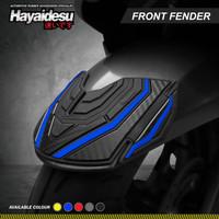 Hayaidesu Front Fender Body Protector Cover Honda PCX 160 - Biru