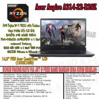 Acer Aspire A314-22-R20Z AMD Ryzen 5 3500U RAM 4GB HDD 1TB LAYAR 14FHD