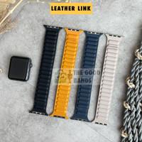 Strap Apple Watch SE 6 5 4 LEATHER LINK Magnet Loop Kulit 40mm 44mm