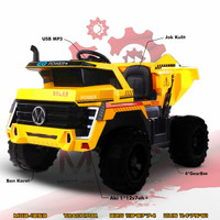 mvp1053 Dump Truk Mainan Anak Mobil Aki Mobilan Ban Karet Ride