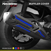 Hayaidesu Muffler Knalpot Body Protector Cover Honda PCX 160 - Biru
