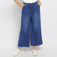 Celana kulot jeans denim polos