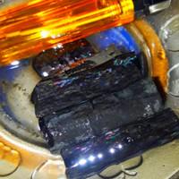 bahan batu black opal sempur sisik ruyung full jarong atas bawah