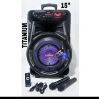 ASATRON Speaker Portable TITANIUM 15 inch