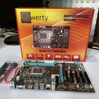 QWERTY B250 BTC 12 Slot Mining Motherboard DDR4 bukan Biostar TB250
