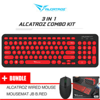 Alcatroz 3 in 1 Combo Kit Wired Keyboard Jelly Bean U200 - Asic Pro 8