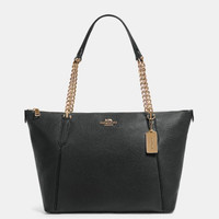 COACH Ava Chain Tote Black (100% ori)