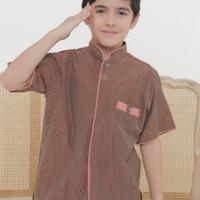 Baju Koko Anak/ Kemeja Koko Anak - Cokelat, XL
