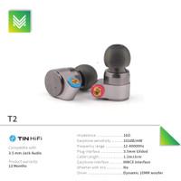 Tin Audio T2 Dual Dynamic Drive HIFI In Ear Monitor Earphone with MMCX