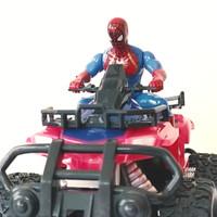RC ATV Mobil Remot Ada Lampu Model Offroad Ban Karet Super Hero