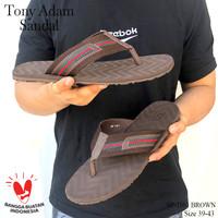 Tony Adam Sandal Pria Sp-1101 Coklat / Sandal Casual Pria Jepit - 38
