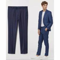 h & m slim skinny ankle fit suit pant original