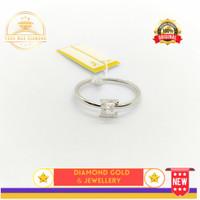 cincin emas putih asli 18k-750 perhisan (DM53)