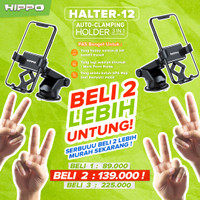 HIPPO Halter-12 Universal Car Holder Auto Gravity Lock Rotasi 360