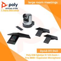 Poly USB EgleEye lV 12X Zoom + Trio 8800+ Expansion Microphone