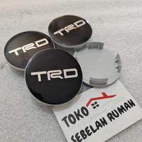 dop velg racing variasi TRD HITAM diameter 6cm