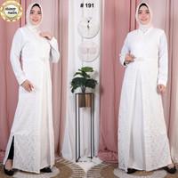 Baju Gamis Putih Lebaran Umroh Haji / Busana Muslim Wanita # 191STD