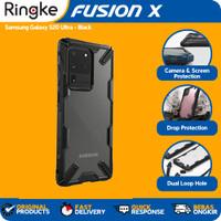 Ringke Galaxy S20 Ultra Fusion X Hybrid Softcase Miltiary Anti Crack - Black