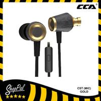 CCA CST (MIC) Original Headset Earphone Metal Wooden