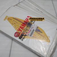 Striping stiker sticker yamaha mio sporty kuning tahun 2005 original