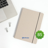 Notebook Spiral Board - B5 /Grey Dotted Grid