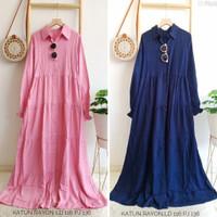 Baju Dress Katun Rayon Polos / Fashion Gamis Wanita Terbaru