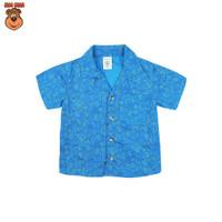 MacBear Baju Anak Laki-laki Kemeja Lebaran Collection Kerah Jas House - Biru, SIZE 4