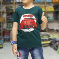 Baju Kaos Anak laki laki Karakter GAMBAR MOBIL BALAP KEREN PREMIUM
