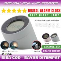 Alarm Clock Digital - Jam Weker Alarm Digital Unik Lampu Tidur LED - White