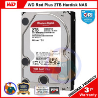 WD Red Plus 2TB Hardisk NAS - CMR, 5400RPM, 128MB Cache - WD20EFZX
