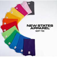 Kaos Polos, Tshirt NEW STATES APPAREL SOFTSTYLE Cotton#3600