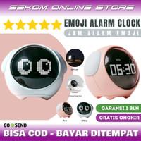 EMOJI DIGITAL ALARM CLOCK - Jam Weker Alarm Lampu Tidur Unik Anak - White