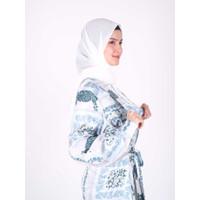 Baju Hamil dan Menyusui - Rayya Collection Khadija Overall Dress - Teal, L/XL