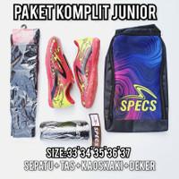 (Paket komplit junior) sepatu futsal anak specs dragon merah kunin - 33