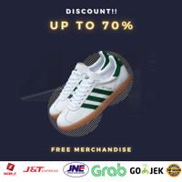 Sepatu Adidas Gazelle Leather White Green Original - 40