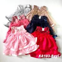Baju Bayi Dress Perempuan Bayi 0- 6 bulan KA103 New Born Bisa Korea