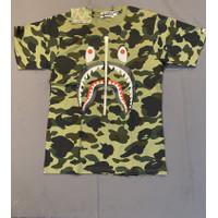 Bape 1st Camo Shark Tee Green Men's Size M