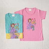 kaos oblong jack junior anak : SOFIA - pinkbirukuning, M