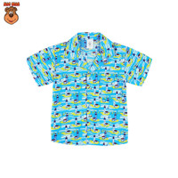 MacBear Baju Anak Laki-laki Kemeja Lebaran Collection Kerah Jas Tower - Biru, SIZE 12