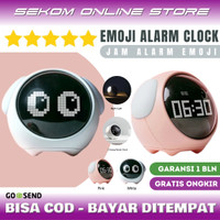 EMOJI DIGITAL ALARM CLOCK - Jam Weker Alarm Lampu Tidur Unik Anak