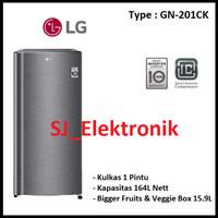 LG Lemari Es 1 Pintu / Kulkas Satu Pintu - 164 Liter - GN-201CK
