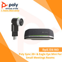 Poly Sync 20+ & Eagle Eye Mini For Small Meetings Rooms