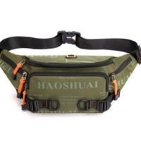 Tas Selempang Pria Waterproof Waistbag Import Chest Sling Bag Men - Bi - Light Green