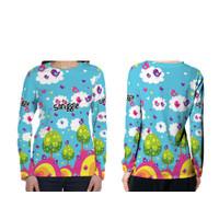 Baju Anak Perempuan Tangan Panjang SMIGGLE Fullprint pakai nama gratis