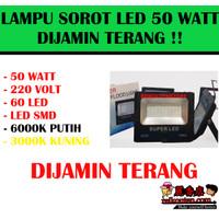 Lampu Sorot LED 50 WATT LED TEMBAK 50w Outdoor Flood Light MATA BESAR