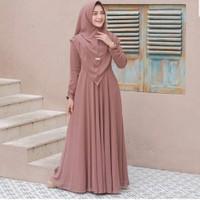 Baju Gamis Syari Wanita Terbaru Ukuran Jumbo Set Khimar Mewah Mayra
