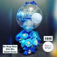 box bunga balon hadiah / hadiah ucapan happy birthday / hadiah ucapan