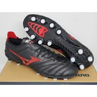 Sepatu Bola - Soccer Mizuno Morelia Neo 3 Pro Leather Black Red - FG